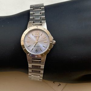 Silver Tone Stainless Casio Watch NWT LTP 1177